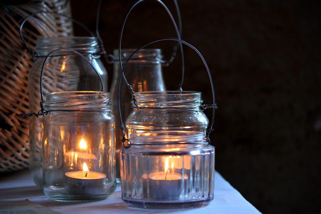 Lanternes en bocal Mason